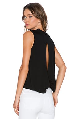 1. STATE Twist Back Tank in Rich Black