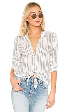 Buttondown Tie Front Blouse 1. STATE $57