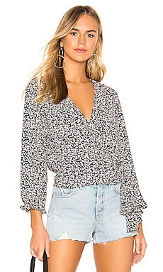 Long Sleeve Wildflower Ditsy Ruffle Edge Wrap Top 1. STATE $89