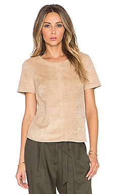 Faux Suede Short Sleeve Tee