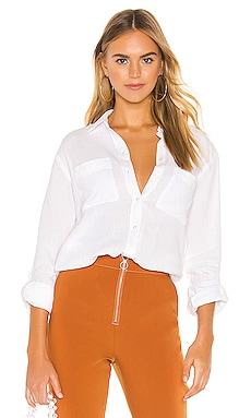 Patch Pocket Roll Tab Double Gauze Top 1. STATE $69