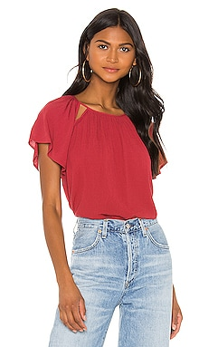 Cut Out Detail Blouse 1. STATE $79