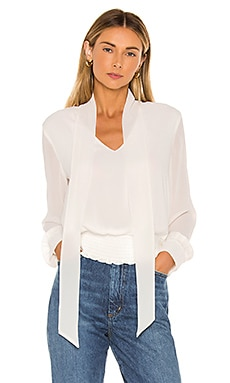 Tie Neck Smocked Waist Blouse 1. STATE $89