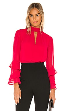 Smocked Neck Ruffle Blouse 1. STATE $89 NEW ARRIVAL