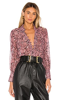 Snake Print Button Down Blouse 1. STATE $89 NEW ARRIVAL