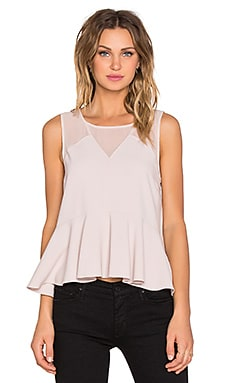 V-Neck Peplum Top in Champagne