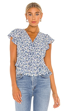 Flutter Sleeve Button Front Blouse 1. STATE $34 (FINAL SALE)
