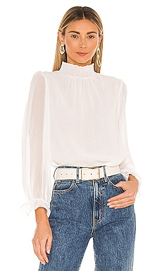 Long Sleeve Smocked Neck Blouse 1. STATE $79