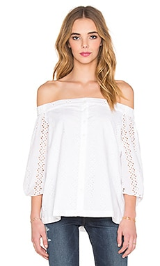 Cold Shoulder Blouse in Cloud
