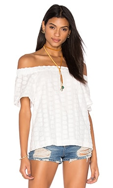 Off Shoulder Blouse in Cloud