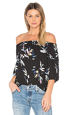 Knot Sleeve Top en Rich Black