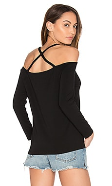 Cross Back Top in Rich Black