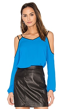 Cold Shoulder Blouse in Electric Sky