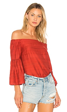Off Shoulder Bell Sleeve Blouse