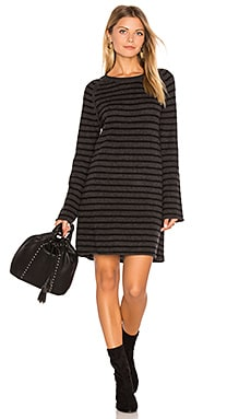Dita Bell Sleeve Sweater Dress in Shadow & Black