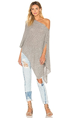 Chumash Crop Poncho in Granite