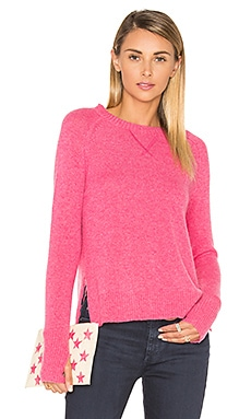 Nora High Low Side Slit Sweater in Azalea