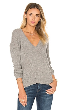27 miles malibu Vance Boyfriend Sweater in Granite