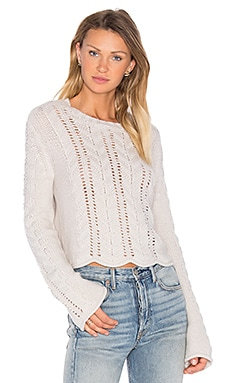 Beyonce Bell Sleeve Crop Sweater en Birch
