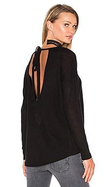 Odessa Tie Back Sweater in Black
