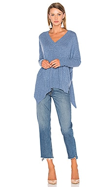 Warley High Low Sweater in Jeans