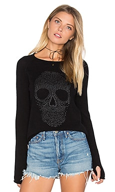 Anushka Skull Sweater in Black