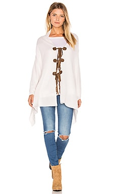 Chumash Zuma Tie Side Poncho in Bone
