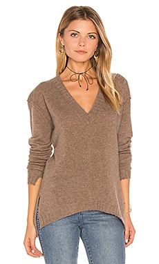 Edolie Side Slit Sweater en Driftwood