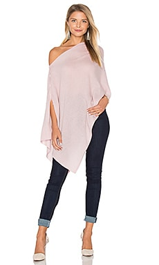 Chumash Solid Poncho in Dusty Rose