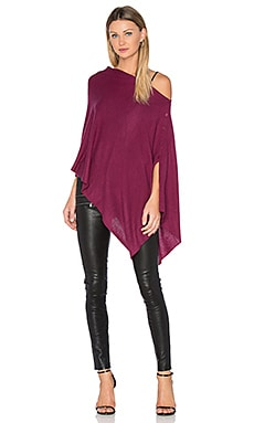 Chumash Crop Poncho en Dark Cherry
