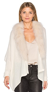 Danica Faux Fur Jacket in Cloud & Beige