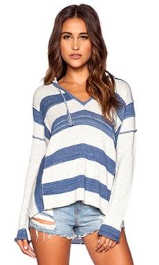 27 miles malibu Triston Hoodie Sweater in Blue Stripe