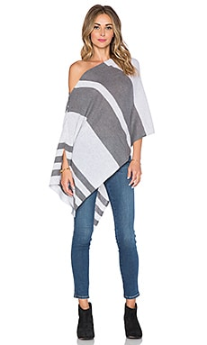 27 miles malibu Chumash Stripe Poncho in Dove & Steel