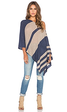 27 miles malibu Chumash Stripe Poncho in Night & Oatmeal