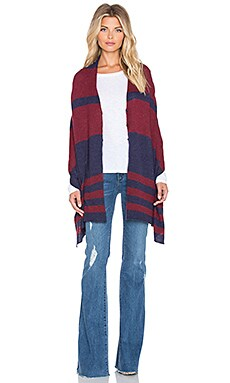 27 miles malibu Chumash Stripe Poncho in Blueberry & Chilli
