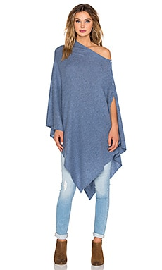 27 miles malibu Lexi Solid Poncho in Jeans