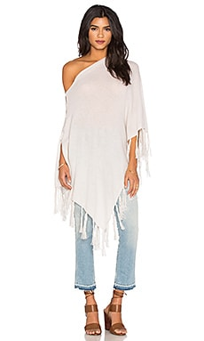 Chumash Fringe Poncho in Birch, Pepper & Birch