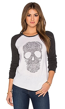 27 miles malibu Anushka Skull Sweater in Cloud, Caviar & Black Beads