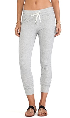 Birds Relaxed Slouchy Sweatpant en Gris Chiné