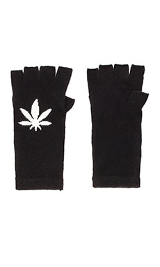 360 Sweater Ganja Glove in Black & Ivory