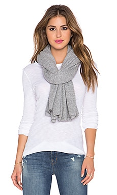 360 Sweater Linus Flared Travel Scarf in Mid Heather Grey