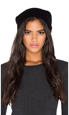 360 Sweater Slouch Beanie in Black