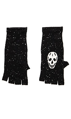 Cashmere Skull Glove in Black & Charcoal