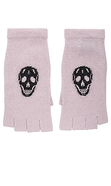 Skull Gloves in Flower & Charcoal Skull