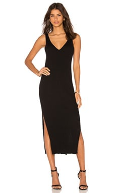 Hunger Midi Dress in Schwarz