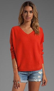 360 Sweater Julietta Cashmere Sweater in Blood Orange | REVOLVE