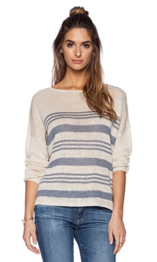 360 Sweater Marin Sweater in Au Natrel & Denim Stripe