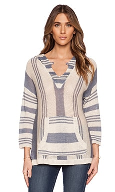 360 Sweater Gemma Pullover in Au Natrel & Denim