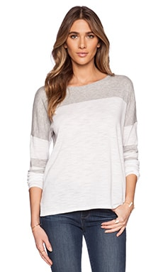 360 Sweater Mila Sweater in White & Heather Grey
