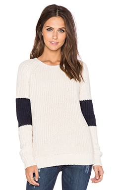 360 Sweater Carlin Sweater in Chalk & Navy